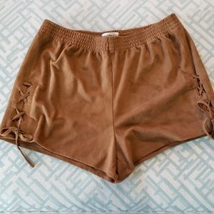 Abercrombie & Fitch suede look shorts